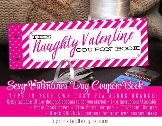 sexy valentine gift for him for her naughty pink creative valentines ideas love coupons husband - Valentines Gift Ideas For Wife