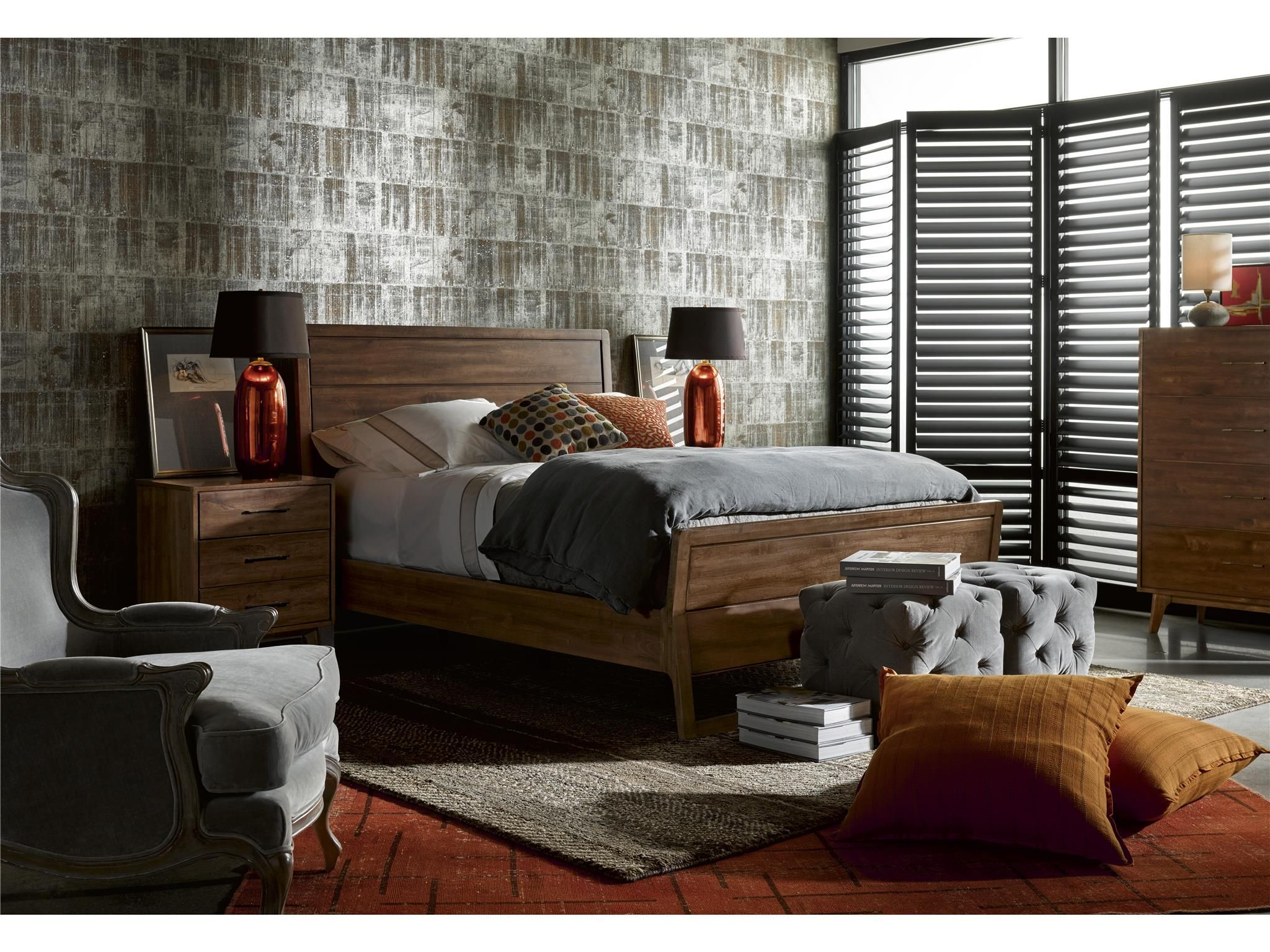 Curated Whitney Bed (Queen) Furniture, Universal