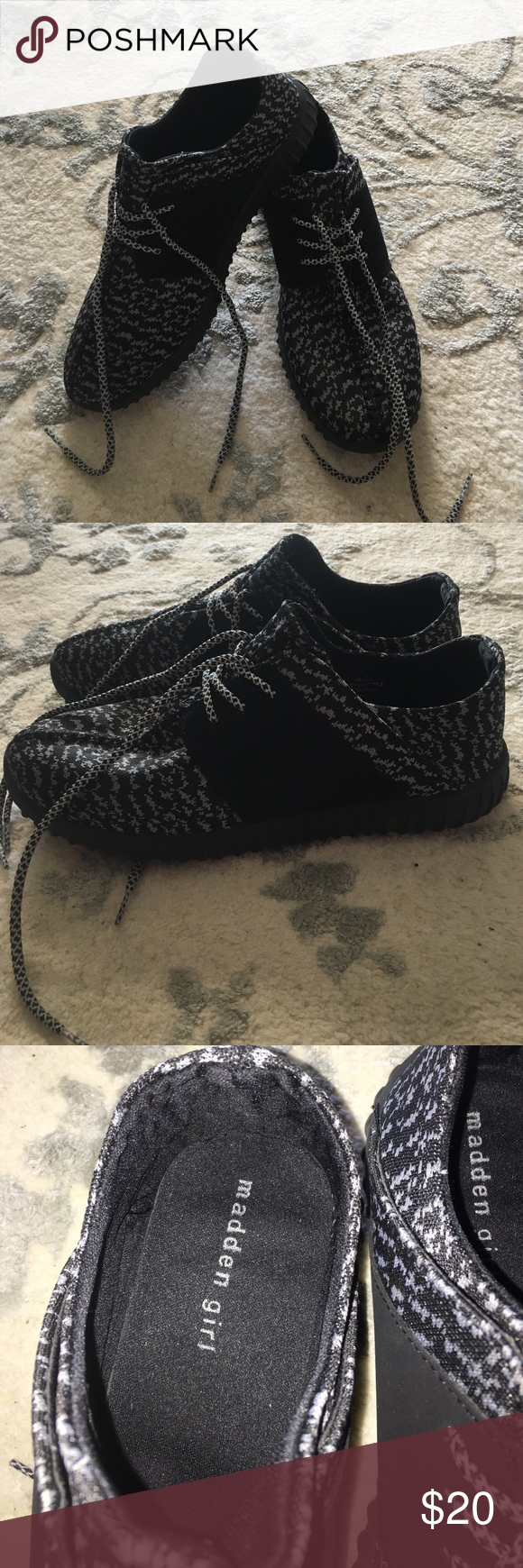 a79d044f4 Black Look alike Yeezys!! Black look alike Yeezy boost!! Worn once ...