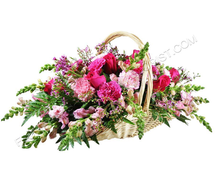 Comfort basket blue flower arrangements basket flower