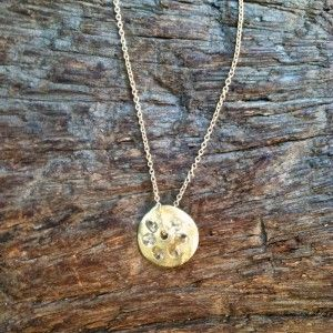 Polly Wales White Sapphire and Gold Necklace