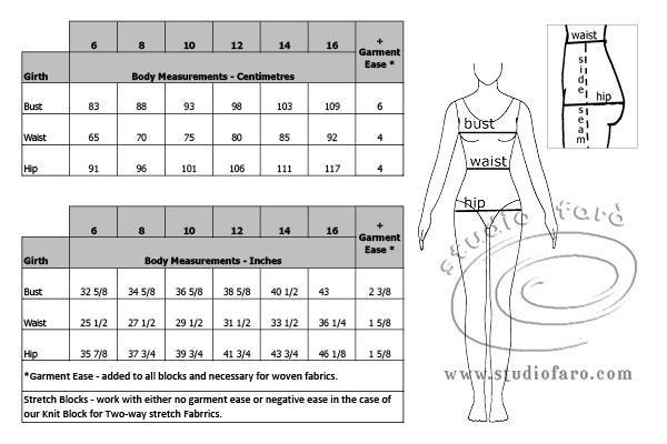 Size Chart  Studiofaro