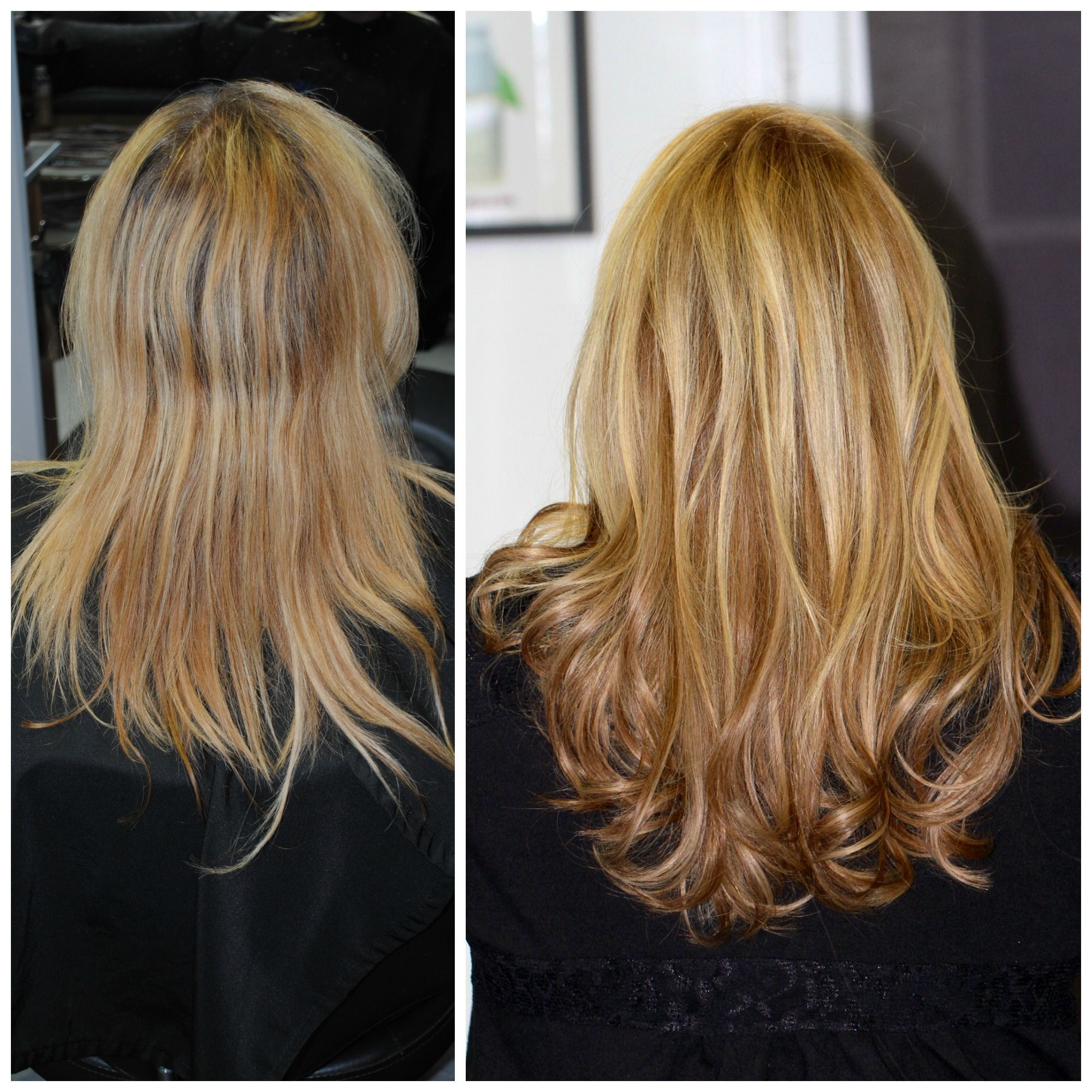 Hairdreams Nano Extensions Before And After Hair By Cesare