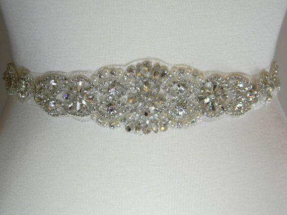 Wedding Belt  Bridal Sash  Bridal Belt  by PrettyCountryBridal