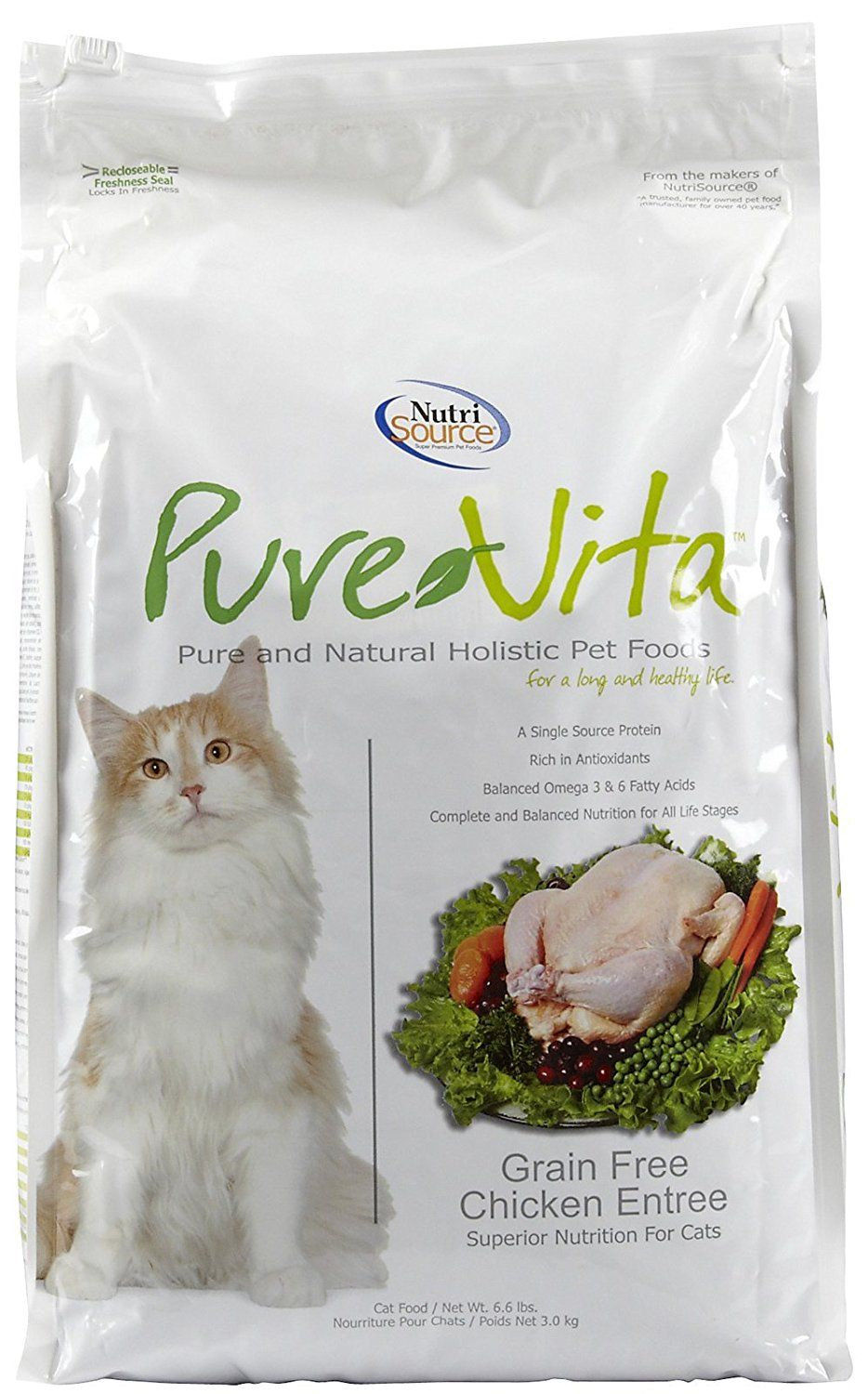 Pure Vita Grain Free Chicken And Peas Cat Food 6 6 Pound Additional Info Cat Food Kitten Food Dry Cat Food Cat Food