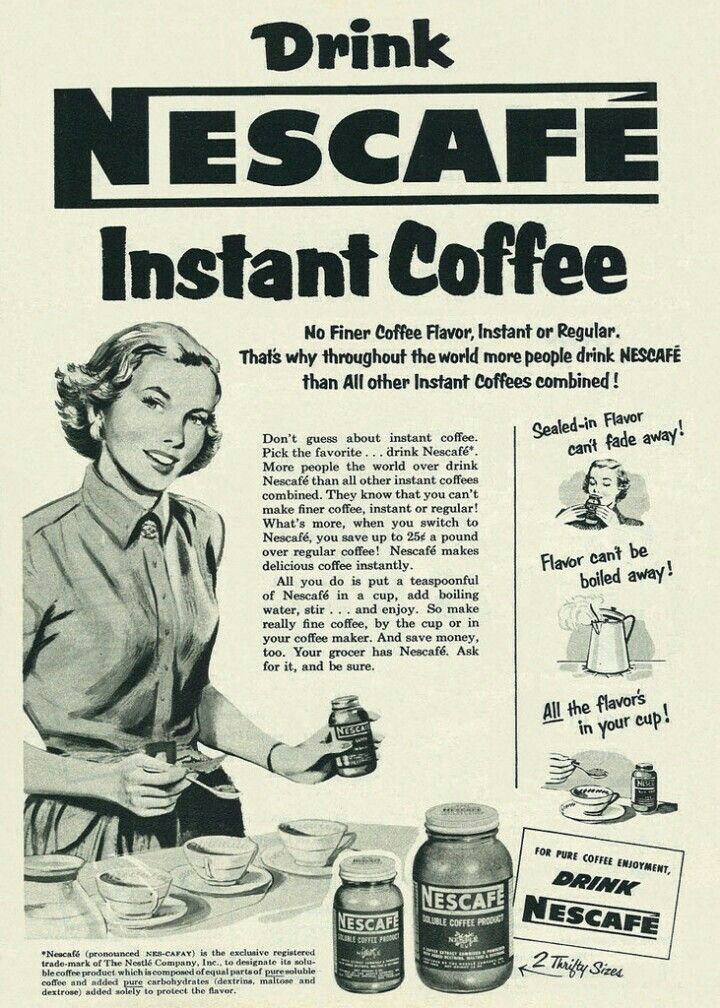 Nescafe 1952 Nescafe instant coffee, Nescafe, Coffee
