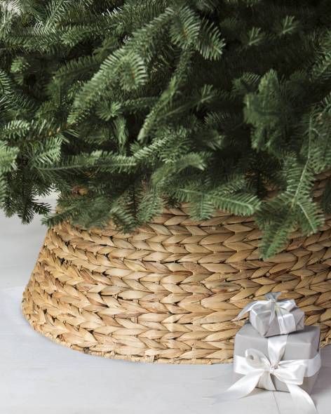 Brown Wicker Tree Collar