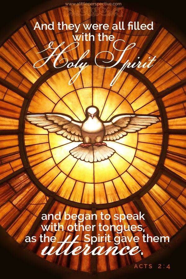 and they were all filled with the holy spirit and began to speak