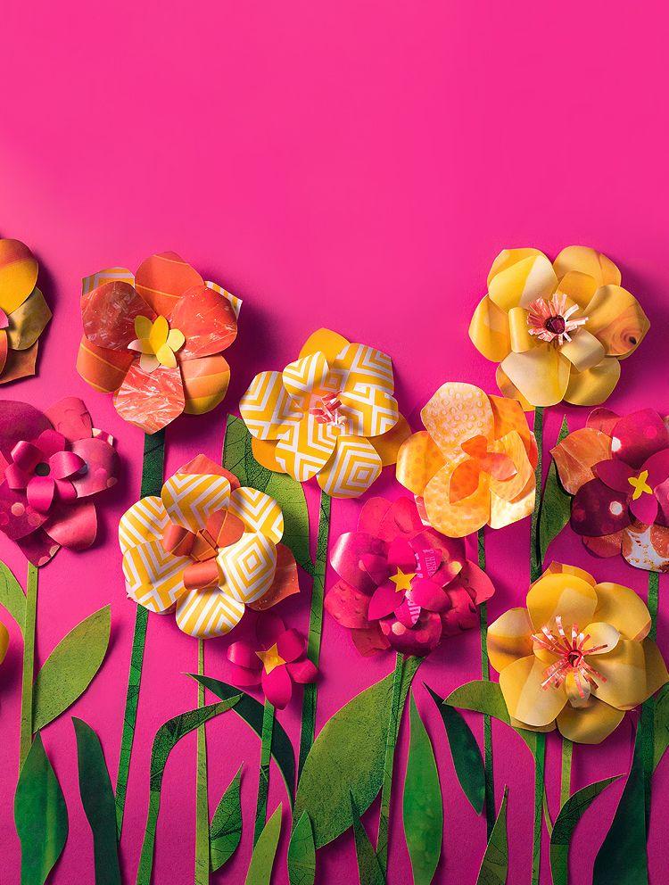 Artes Manuais com Kika Florence: Tutorial flor de papel - 7 paps