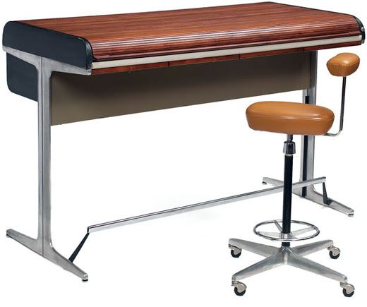 Hit List George Nelson Action Roll Top Desk Modern Desk Furniture Most Comfortable Office Chair Dining Room Chairs Ikea