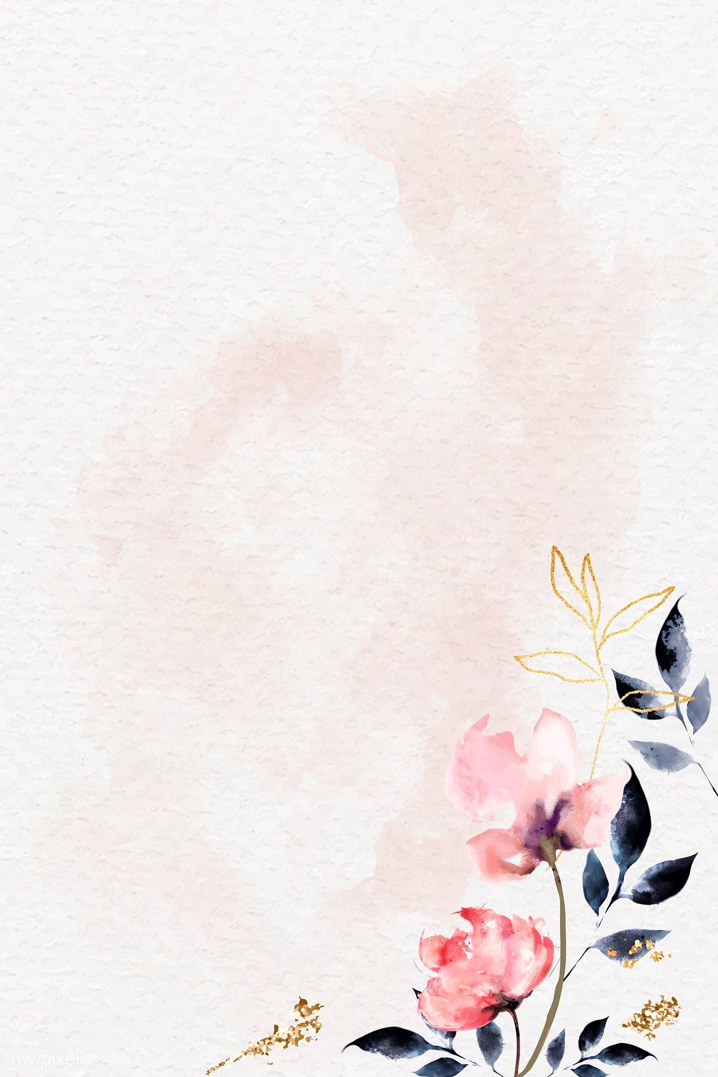 Download Premium Vector Of Shimmering Watercolor Floral Frame