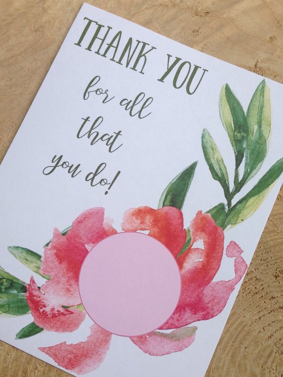 cfbb5ef46a717 Thank you for all that you do printable cards for EOS lip balm ...