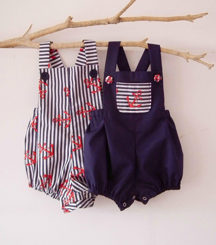 55309e216 Baby Boy Newborn to 3T Baby Boy Rompers Baby Boy Clothing Nautical ...