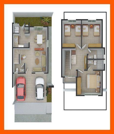 Planos de casas plantas arquitect nicas de casas y for Distribucion de una casa de una planta