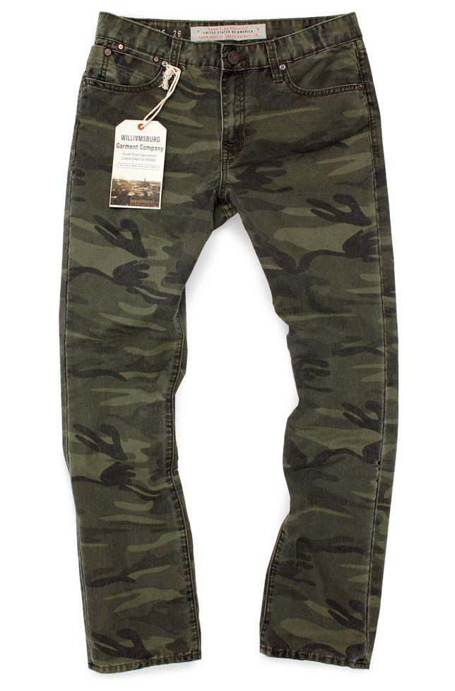 1df61f543371c Women's Camouflage Relaxed Fit Pants - METROPOLITAN AVE | Boyfriend ...
