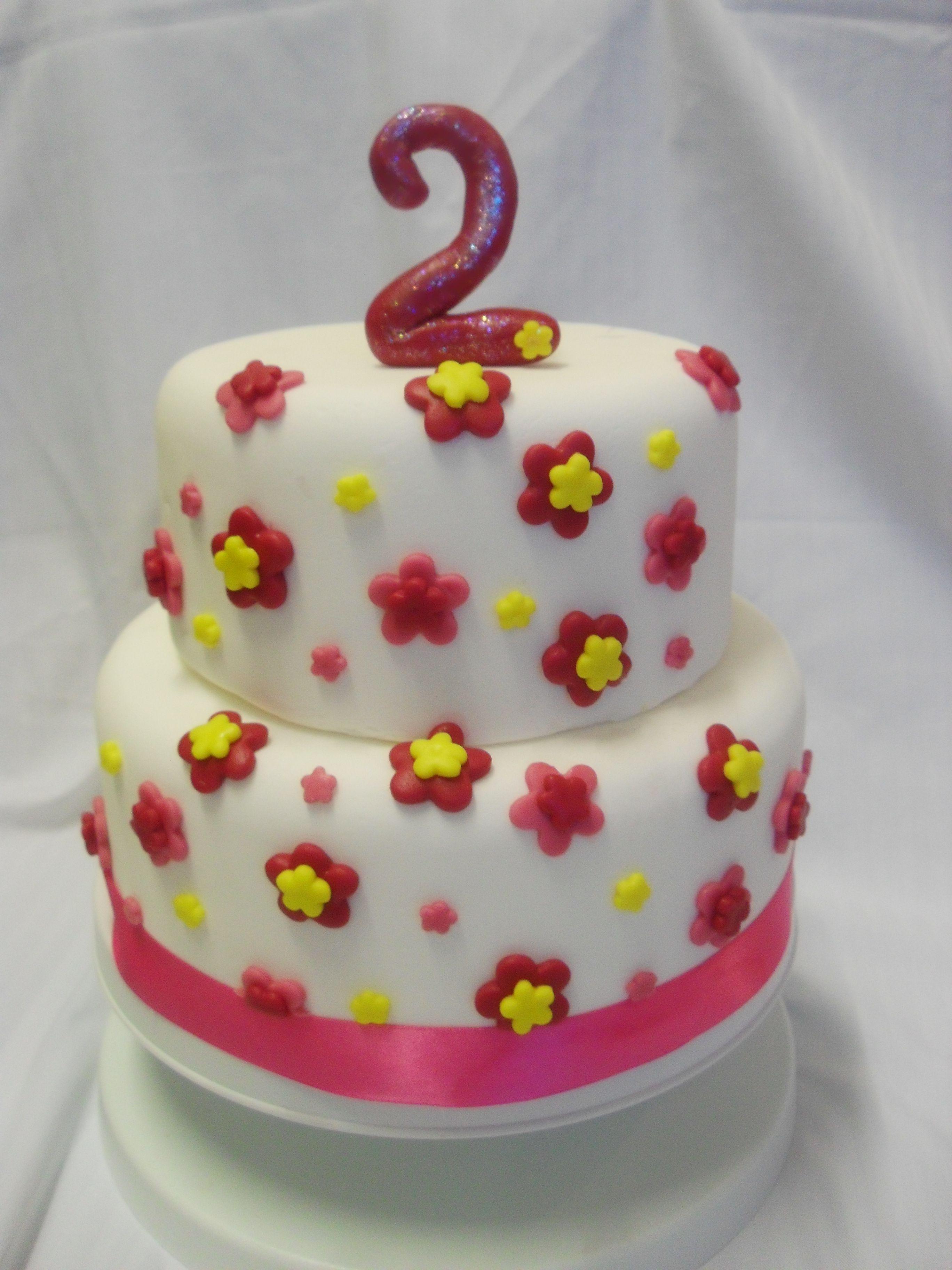 1st birthday cake girl 2 tier