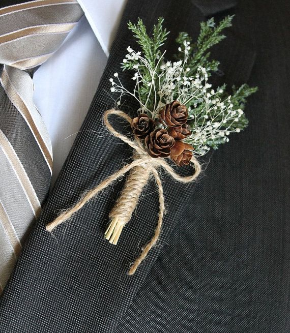Rustic Boutonniere Groom Boutonniere Groomsman Boutonniere Pine Cone Boutonniere Mens Wedding Boutonniere Wed Rustic Boutonniere Boutonniere Groom Boutonniere