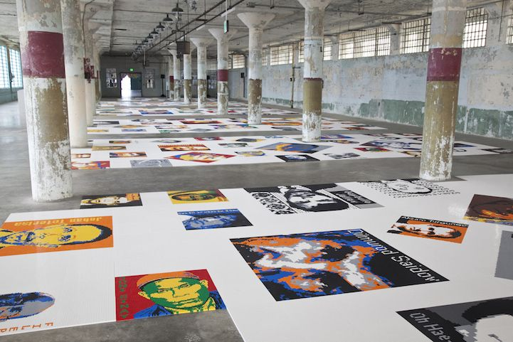 Ai Weiwei Uses 1.2 Million LEGO Bricks to Create Intricate Portraits of Prisoners of Conscience