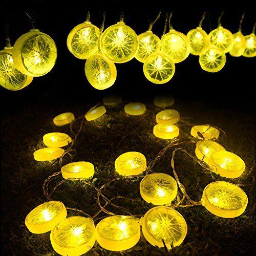 $44.90   HQOON Starry String Lights Novelty Lemon Fairy Lights Indoor And  Outdoor Decorative Rope Lights For Patio Tree Bedroom Garden Parties  Wedding 2 ...