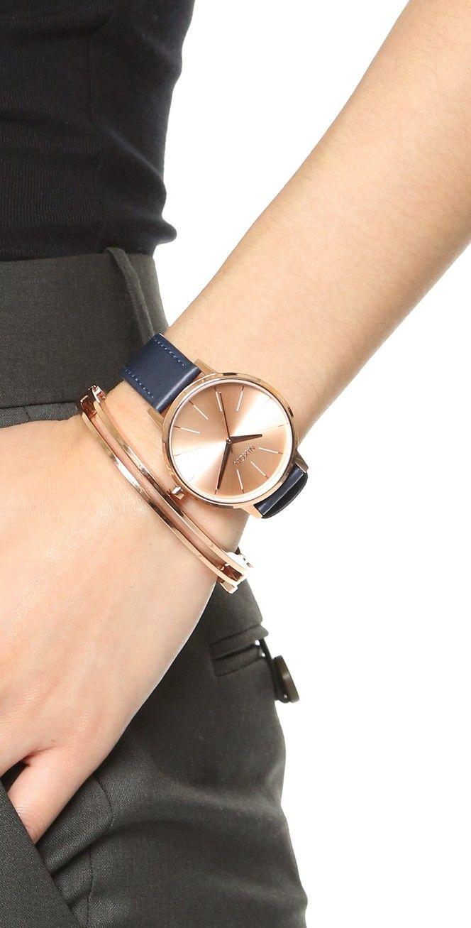 6c9dbba9a Nixon Kensington Leather Watch | SHOPBOP | Accessories | Montre, Mode