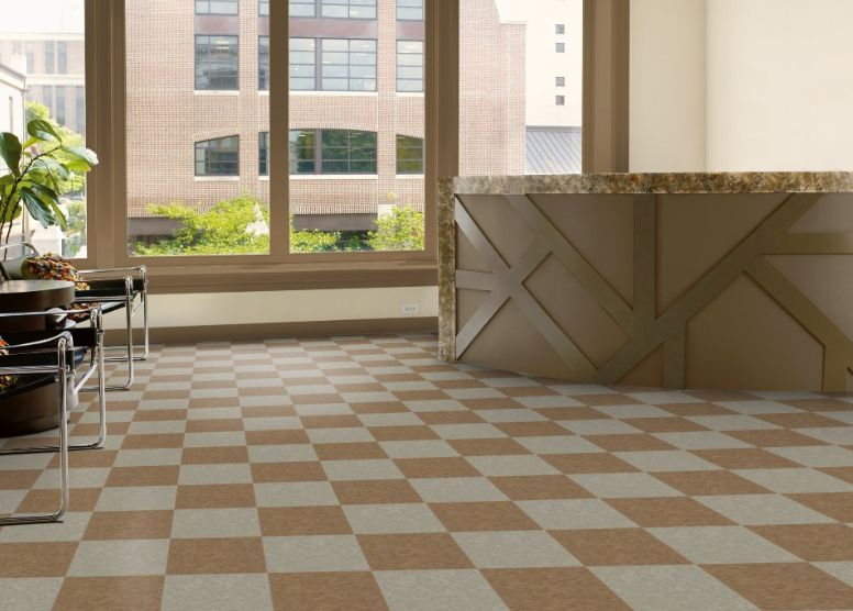 Armstrong S 51869 Humus And 51872 Tea Garden Green In 12x12 Inch Tiles From The Standard Excelon Imperial Texture Collection Lvt Tile Vct Tile Vinyl Flooring