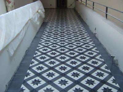 sol-carreaux-ciment-couloir   carrelages couloir   Pinterest ...