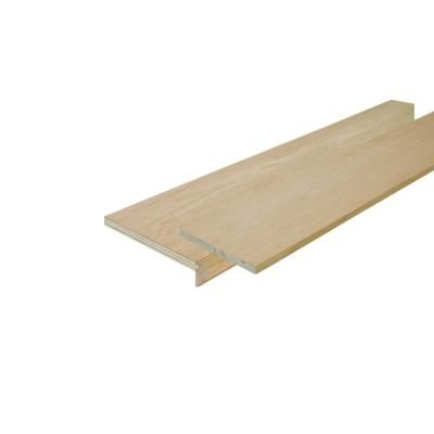 Simple Tread 11 1 2 In X 48 In Oak False Stair Tread Cap And | Wood Stairs Home Depot | Treads | Carpeted Stairs | Stair Railing | Oak Stair Nose | Laminate Flooring