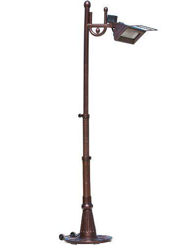 Fire Sense Hammer Tone Bronze Traditional Design Pole Mounted Infrared  Patio Heater
