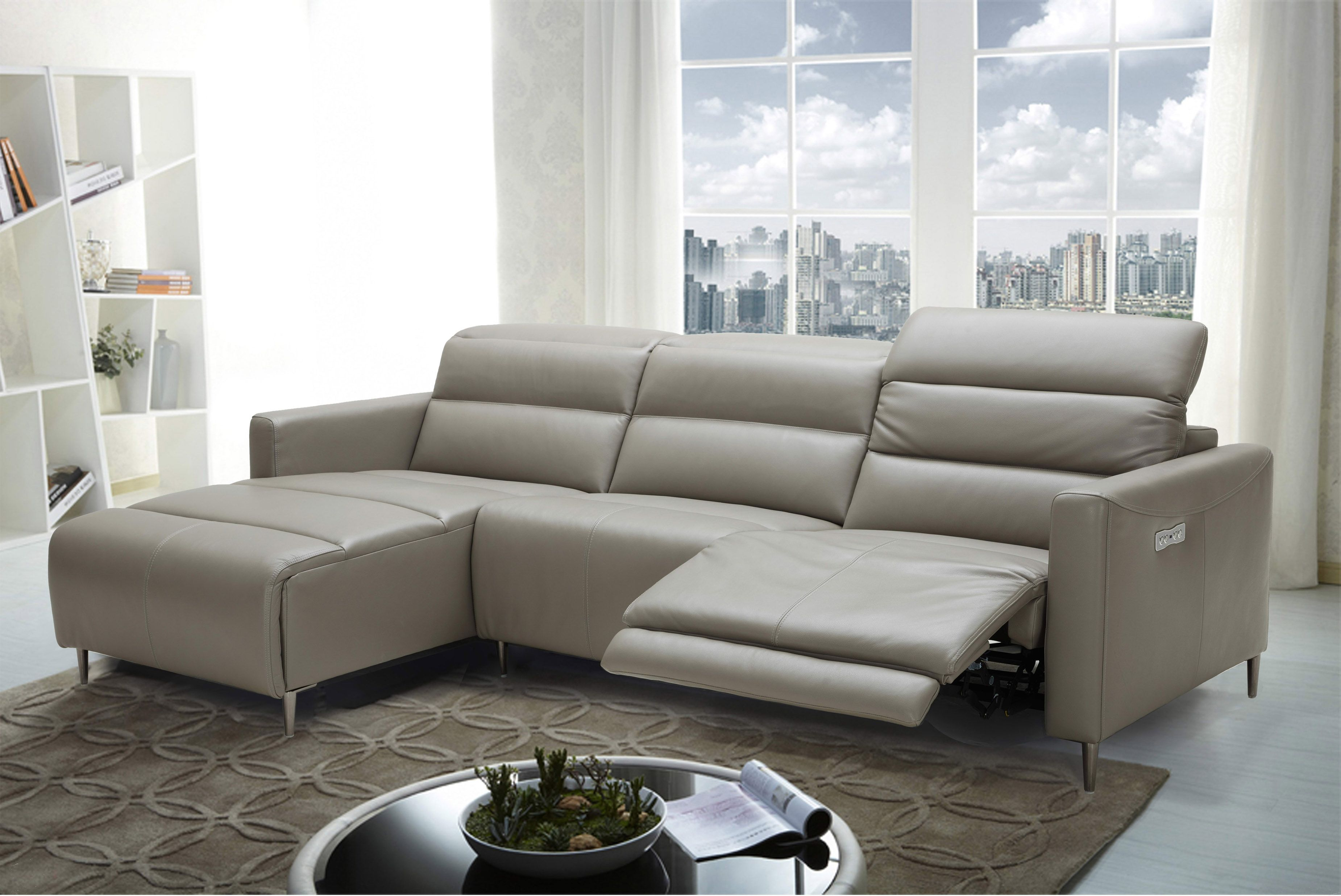 Exclusive Italian Leather Living Room Furniture Leather Living