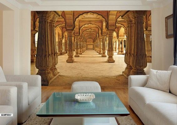 Indian Palace Corridor 3d Wallpaper 3d Wall Murals 3d Wallpaper Home Interior Design Paint