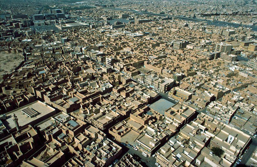 Adobe Houses And Business In Central Riyadh Saudi Arabia 1984 Wayne Eastep Saudi Arabia Riyadh New Roads