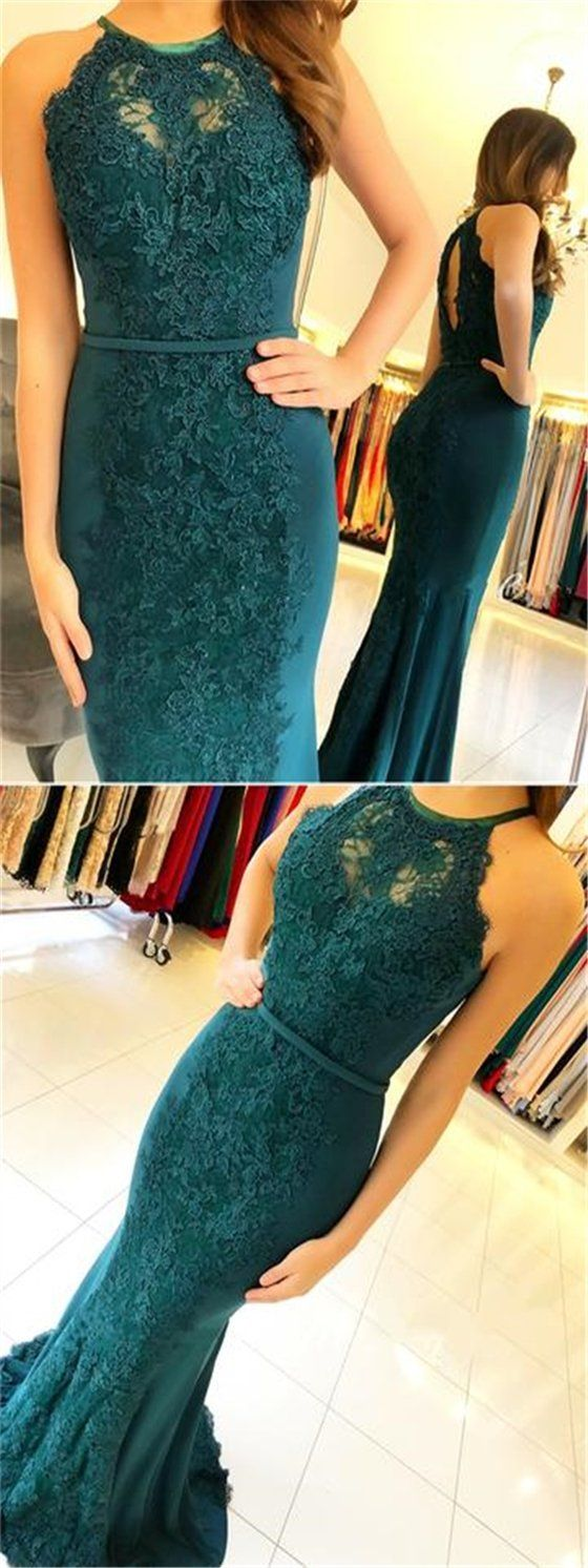 Green lace prom dresses mermaid prom dresses sexy prom dresses
