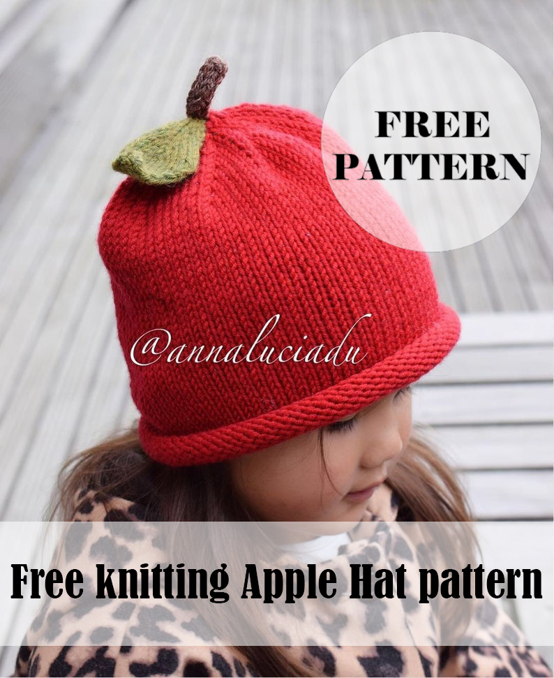 Knitting Apple Hat Free pattern - annaluciadesign | Baby ...
