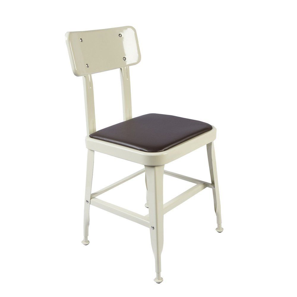 The Dulton standard chair is a perfect fit for coffee house, outdoor, and industrial space. Color choices are Raw finish, red, ivory. Each color is powder coated and lacquered ensures the color won't fade. Plus the very unique Dulton galvanized finished brings out the shining metal look.- The standard chair has a retro french industrial look and yet comfortable for study/reading/dining.- Antirust paint finish durable for outdoor use.- Perfect match to your cool loft and neighborhood ...