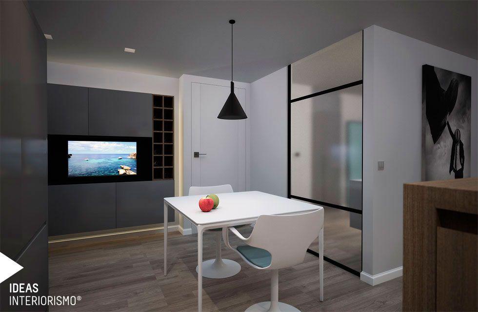 Proyecto de interiorismo con cocina integrada en el salón-comedor