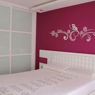 Vinilos para pared de dormitorio matrimonial buscar con - Decoracion paredes dormitorio ...