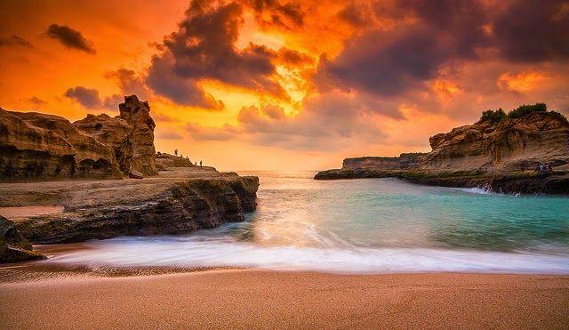 Pantai Klayar Wisata Indonesia Pantai Sunset Beach Pemandangan