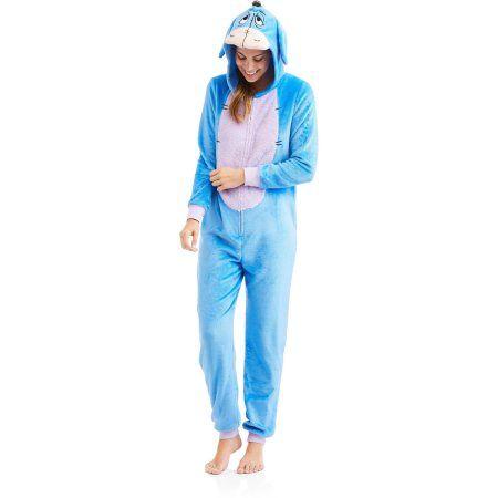 e4ae7fba06 Plus Size Disney s Eeyore Women s and Women s Plus Licensed Sleepwear Adult  Onesie Costume Union Suit Pajama (XS-3X)