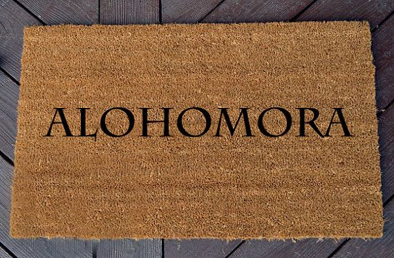 Alohomora Welcome Mat Harry Potter By Whaylasnerdom On