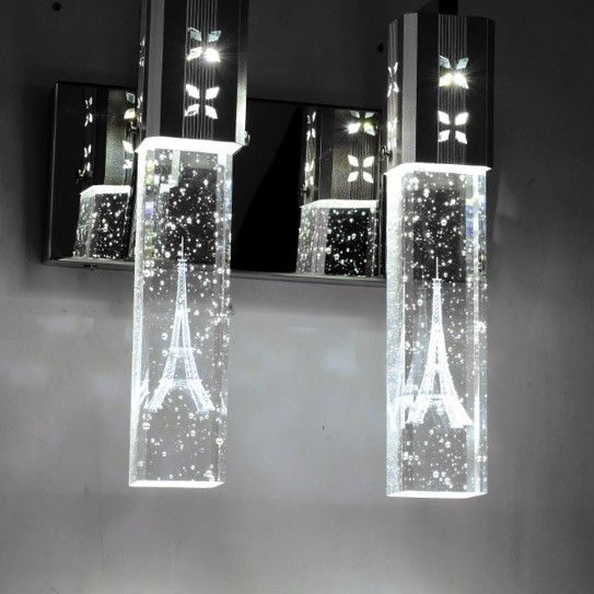 crystal bubble shade bath vanity light giving any room an array of sparkle and glamour