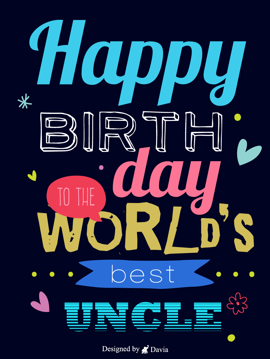 Love For Uncle Birthday For Uncle Cards Birthday Greeting Cards By Davia In 2021 Uncle Birthday Birthday Greeting Cards Birthday Cards
