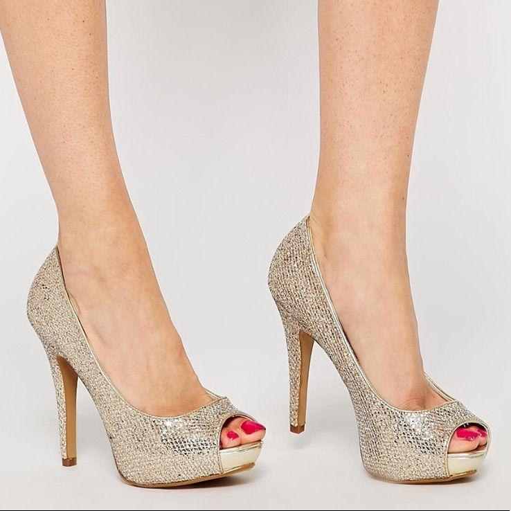 8101c6e9069e Aldo Shoes | Aldo Gold Glitter Heels | Color: Gold | Size: 8 ...