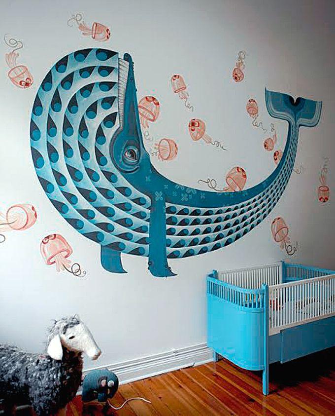 Full Colour Treasure Chest Porthole Under Water Ocean Sea Boys Girls Bathroom Wall Sticker Decal Kids Bedroom Decoration