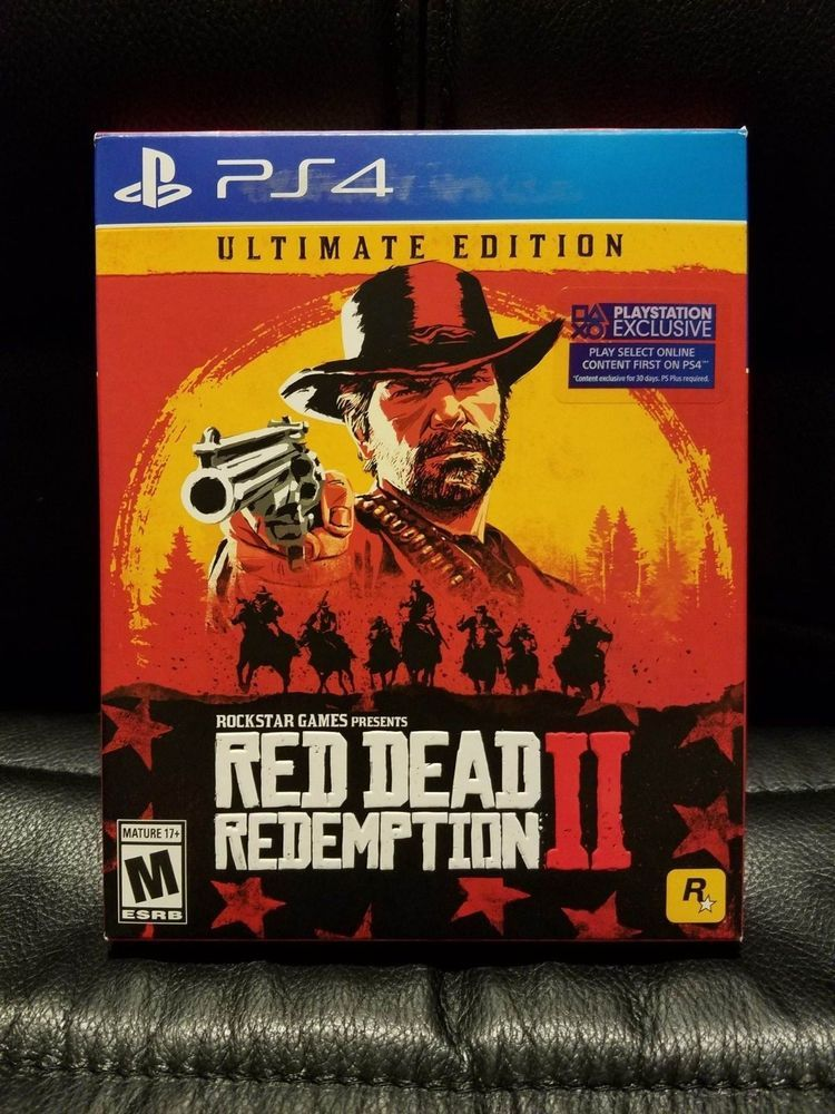Red Dead Redemption 2 Ultimate Edition Ps4 Playstation 4 Rare Steelbook Reddeadredemption Gaming Xboxone League Of Legends Game Gear Red Dead Redempti