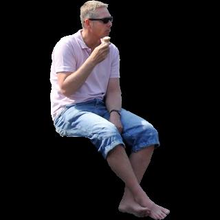 Man Sitting On Pier By Facemepls Png 320 320 Man Sitting People Sitting Man