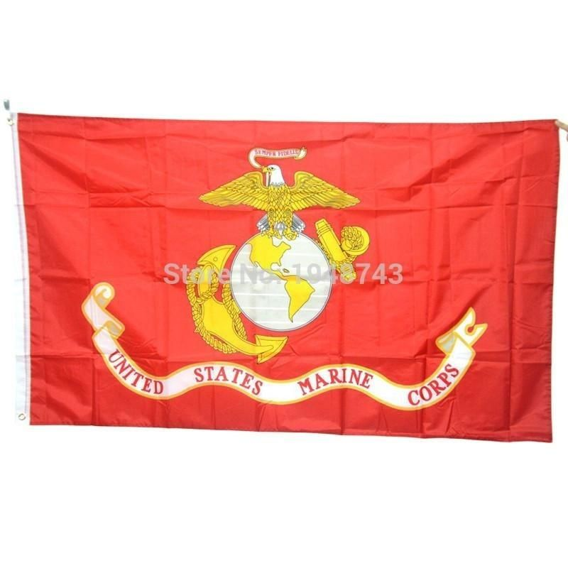 Hot Sell 90 150cm American Army Usa United States Marine Corps Usmc Polyster Flag Banners 3 5 Feet With Brass Grommets In 2020 United States Marine Corps Army Usa United States Marine