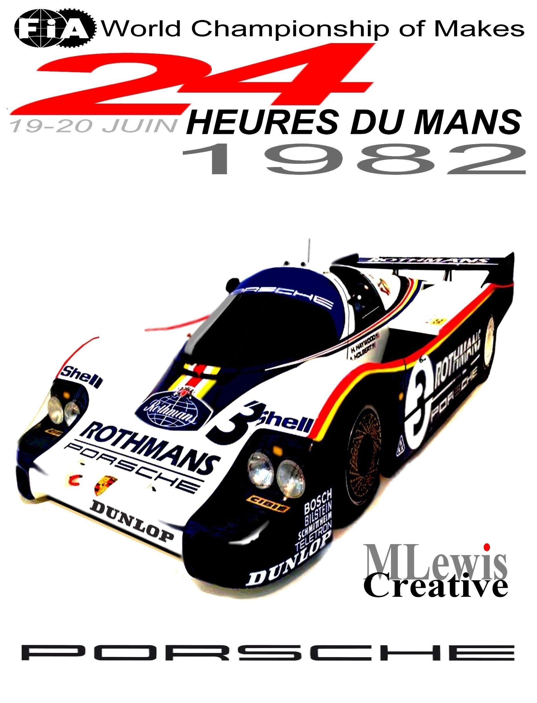 retro le mans 1982 poster by mlewis creative mlewis motorsports art pinterest le mans. Black Bedroom Furniture Sets. Home Design Ideas