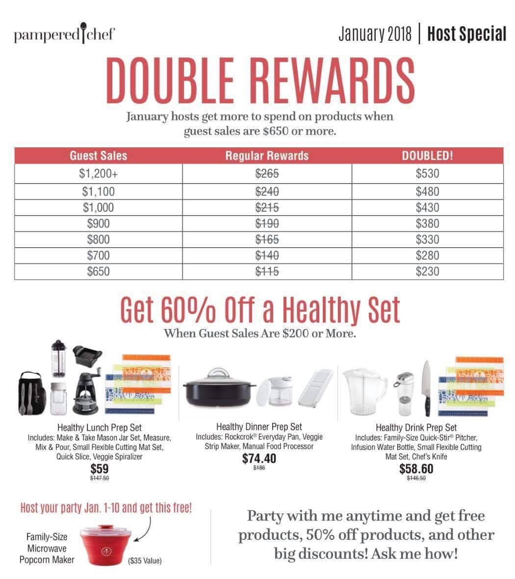 January 2018 Host Rewards Come And Join Me Rewards 2018 January2018 Cleaneatinglifestyle Cleaneating Yum Www P Pampered Chef Party Chef