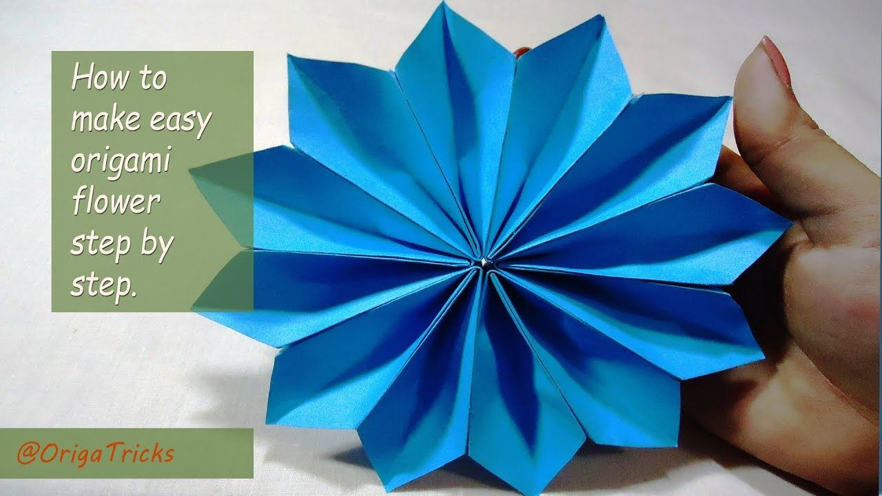 How To Make Easy Origami Flower Step By Step Origami Tricks