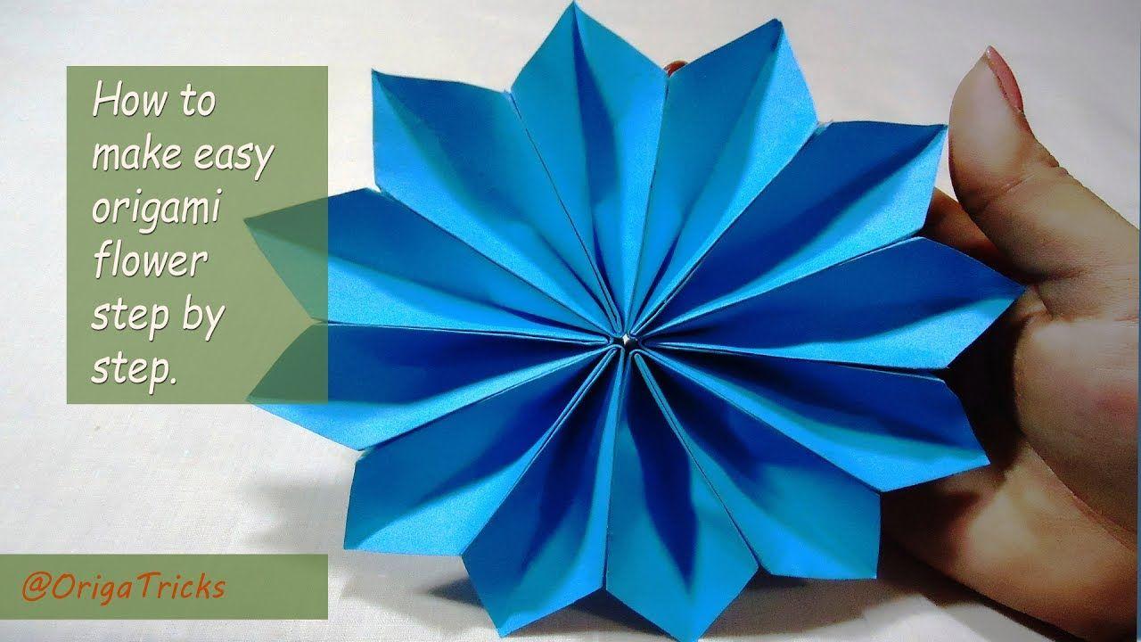 How to make easy origami flower step by step origami tricks how to make easy origami flower step by step mightylinksfo